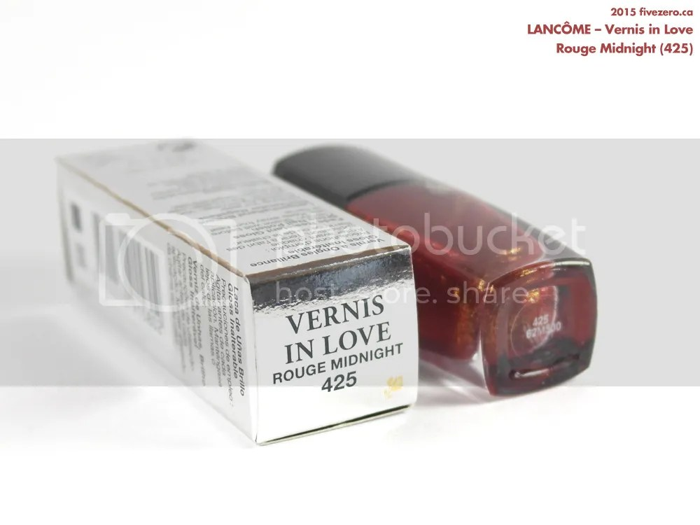 Lancôme Vernis in Love in Rouge Midnight (425), label