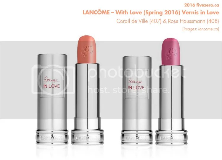 Lancôme, With Love Spring 2016 Collection, Rouge in Love Lipstick