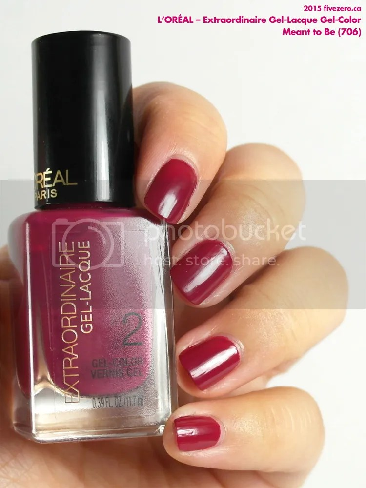 L'Oréal Extraordinaire Gel-Lacque Gel-Color in Meant To Be, swatch