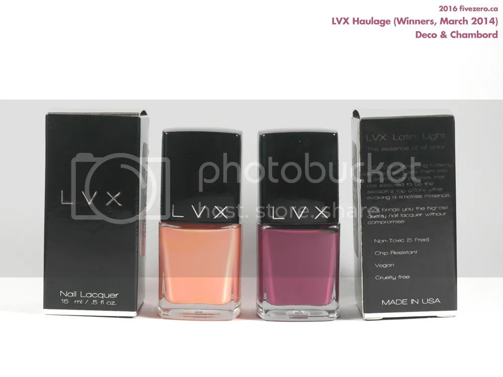 LVX Haulage at Winners (March 2014), Nail Lacquers in Deco and Chambord