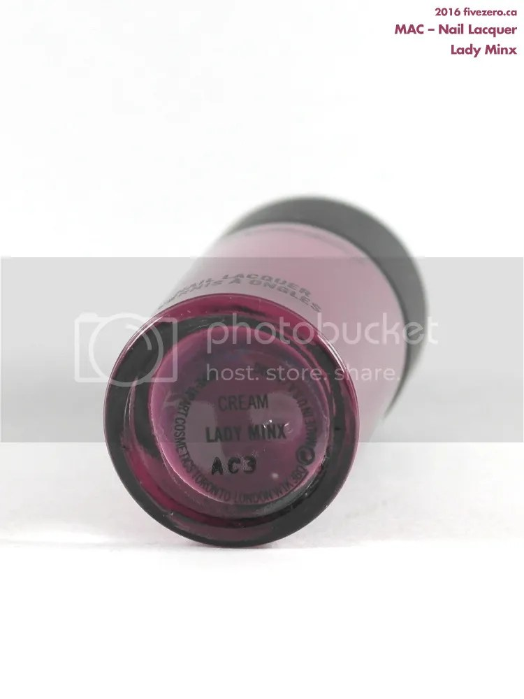 MAC Nail Lacquer in Lady Minx, label