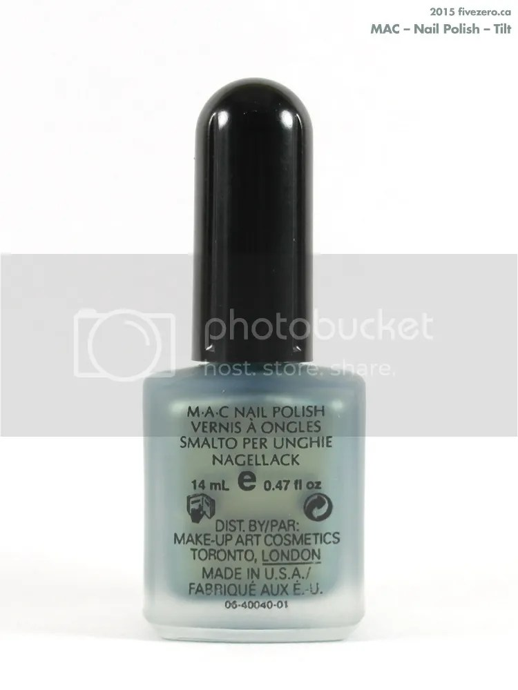 MAC Nail Polish in Tilt, label