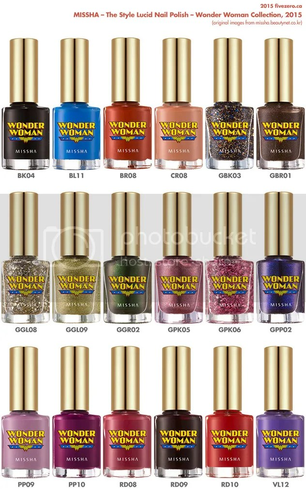Missha Wonder Woman collection 2015, The Style Lucid Nail Polish