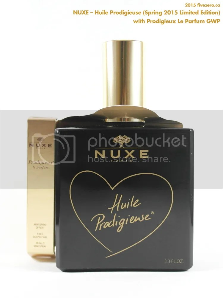 Nuxe Huile Prodigieuse Dry Oil, Limited Edition Spring 2015 Opaque Black Bottle, 100 mL, GWP Prodigieux Le Parfum