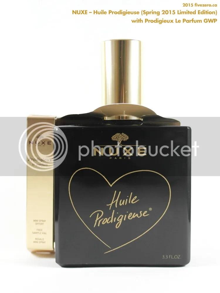 Nuxe Huile Prodigieuse Dry Oil, Limited Edition Spring 2015 Opaque Black Bottle, 100 mL, GWP Prodigieux Le Parfum