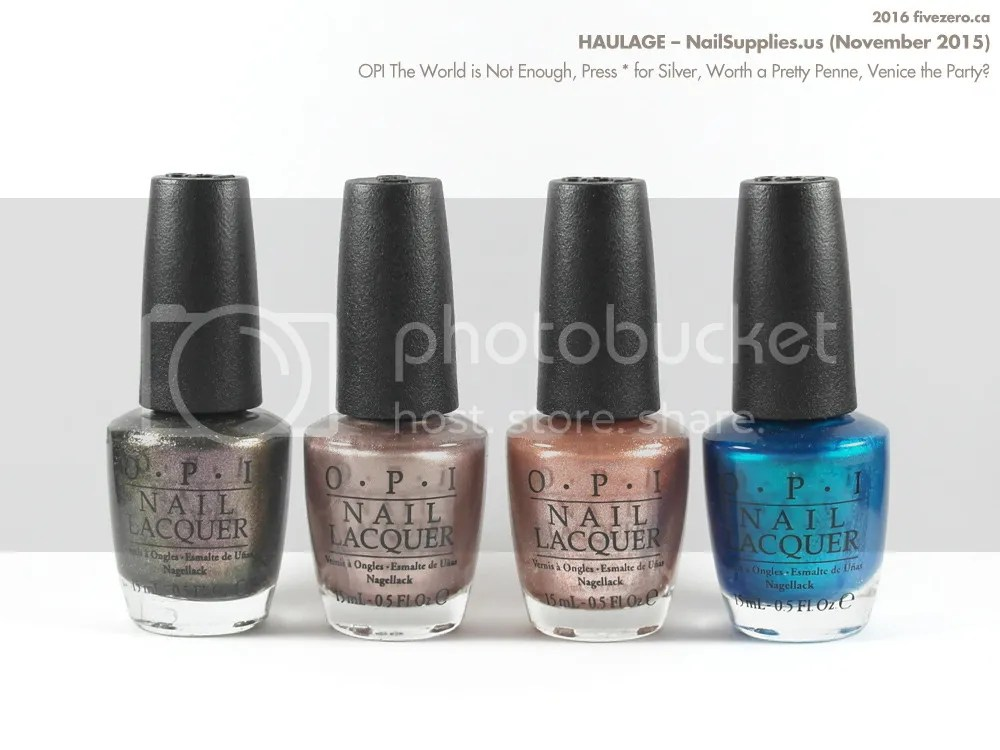 Haulage: OPI The World is Not Enough, Press * for Silver, Worth a Pretty Penne, Venice the Party?