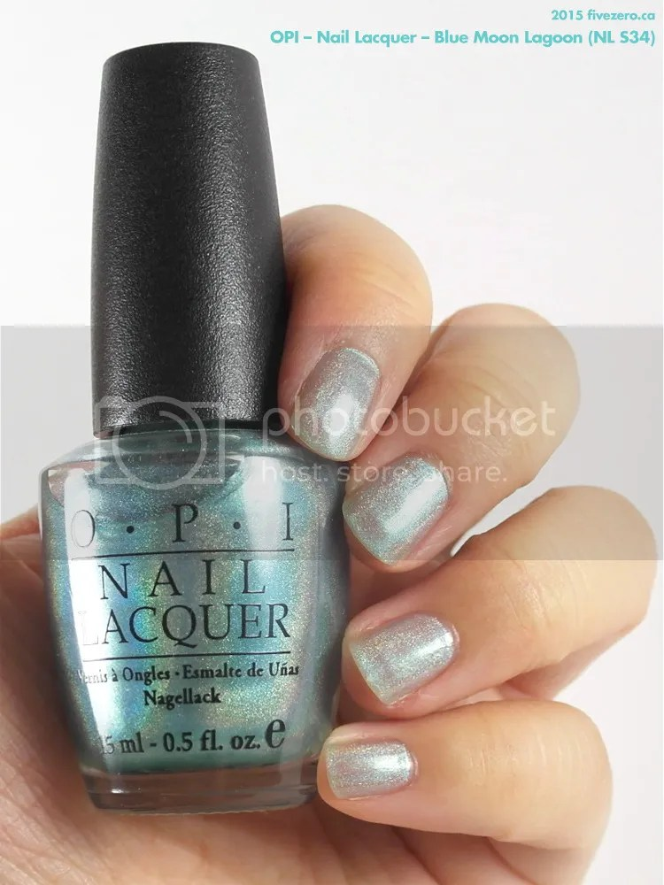 OPI Nail Lacquer in Blue Moon Lagoon, swatch