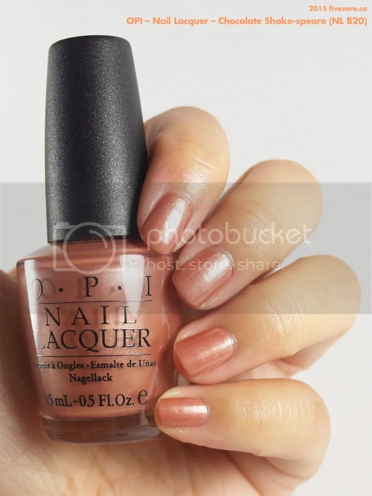 OPI Nail Lacquer in Chocolate Shake-speare, swatch