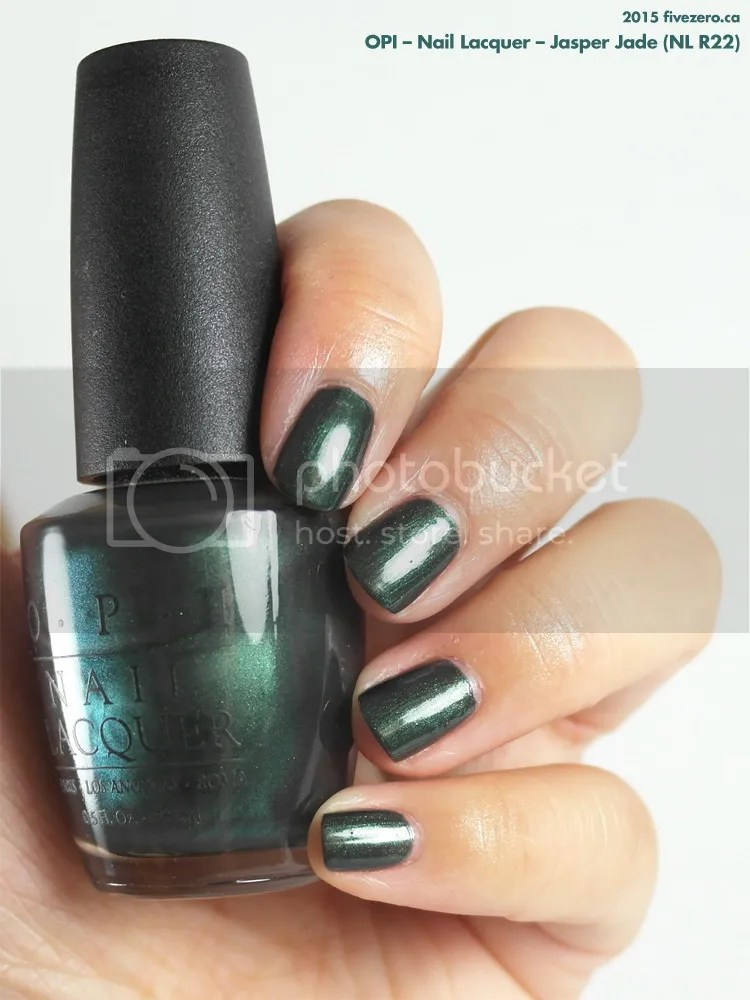 OPI Nail Lacquer in Jasper Jade, swatch