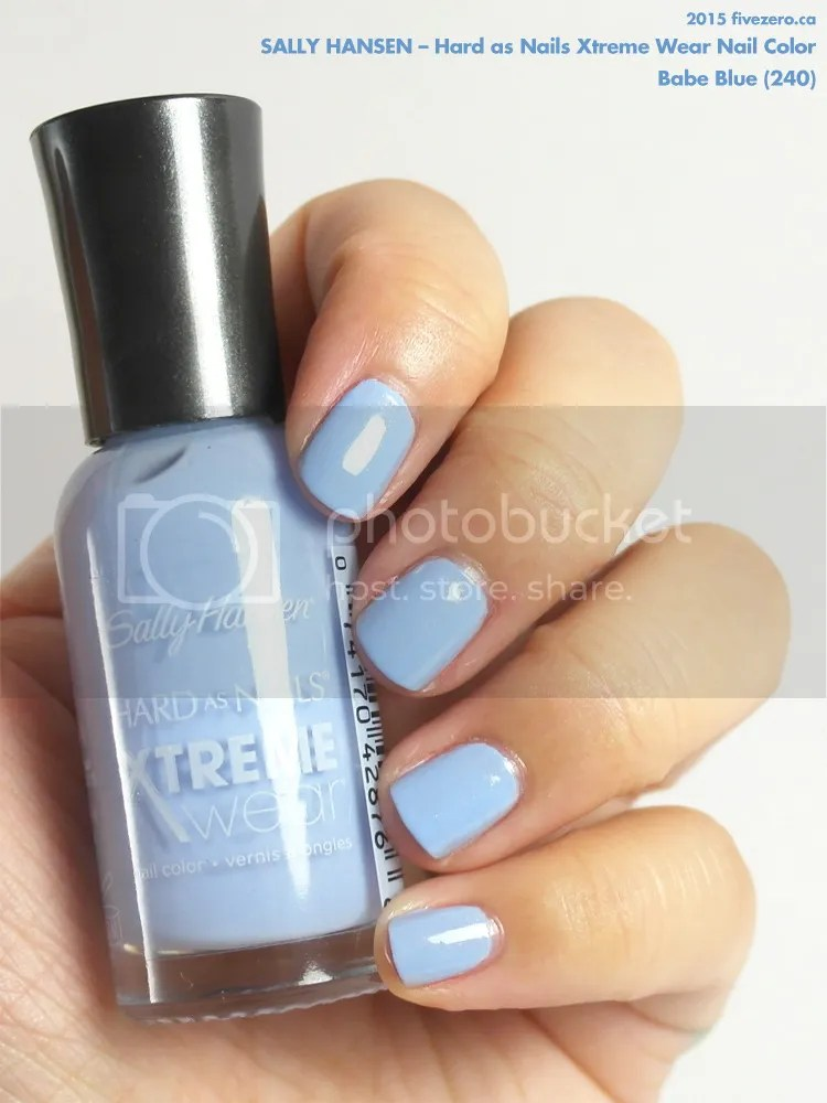 Sally Hansen Hard as Nails Xtreme Wear Nail Color in Babe Blue, swatch