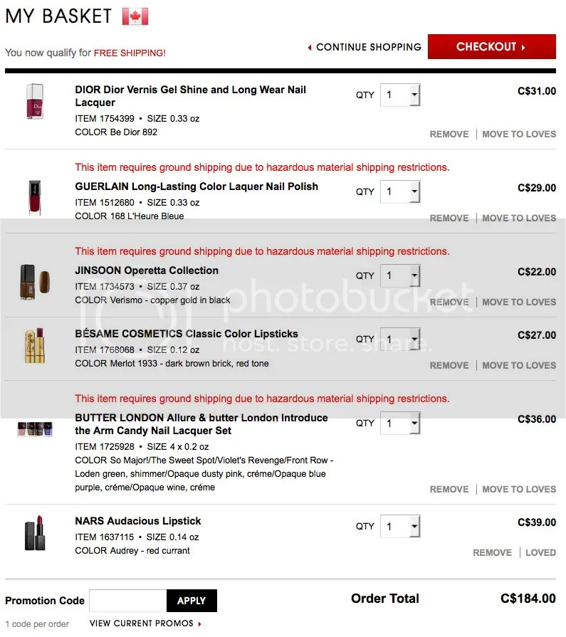 Fivezero's wishlist for Sephora VIB sale October 2015