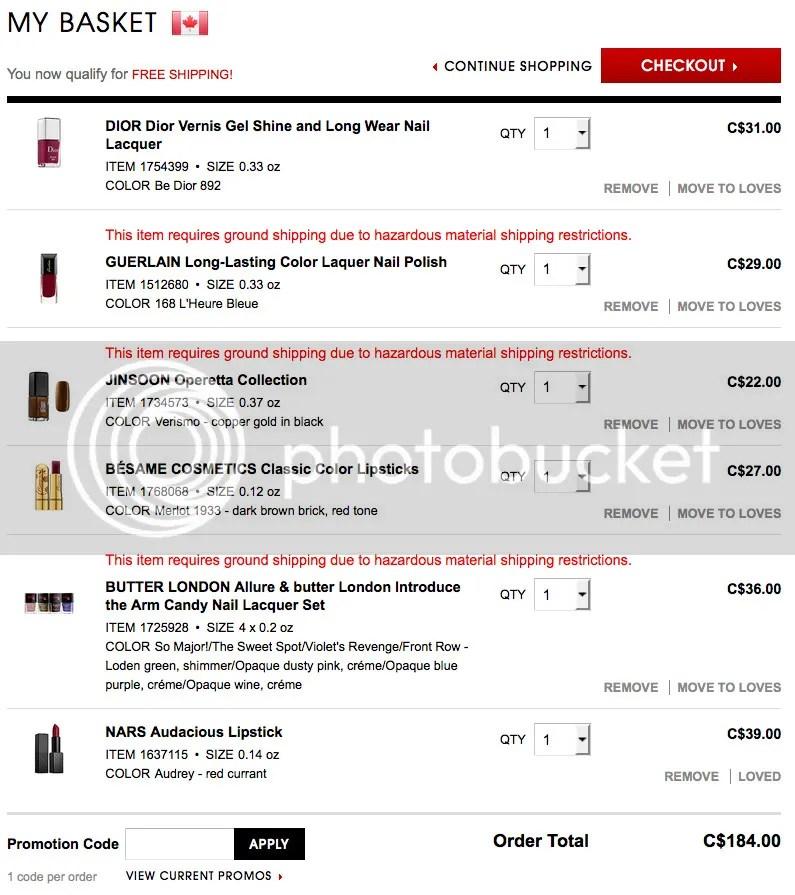 Fivezero's wishlist for Sephora VIB sale October 2015