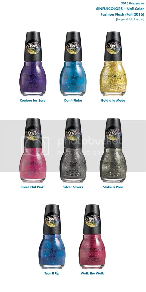 SinfulColors Fall 2016 collection Faceted Illusions