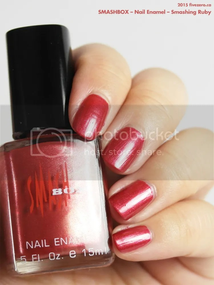 Smashbox Nail Enamel in Smashing Ruby, swatch