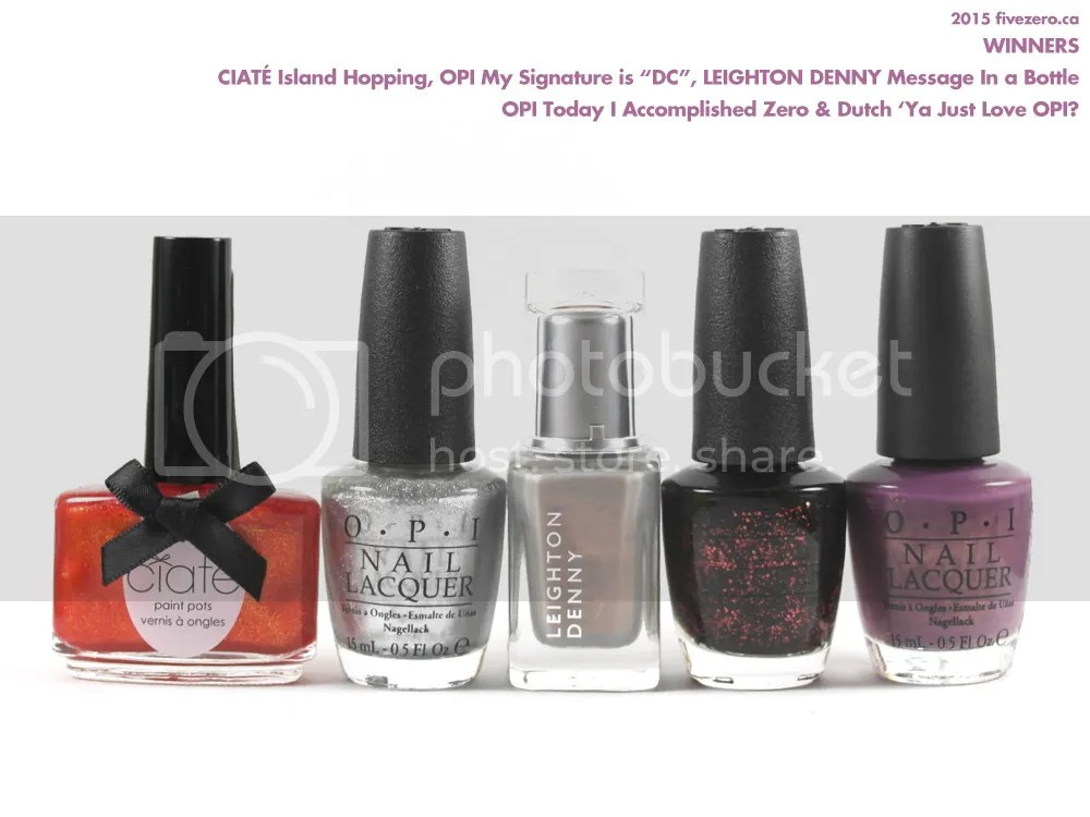 Winners Canada haulage, OPI, Leighton Denny nail polish