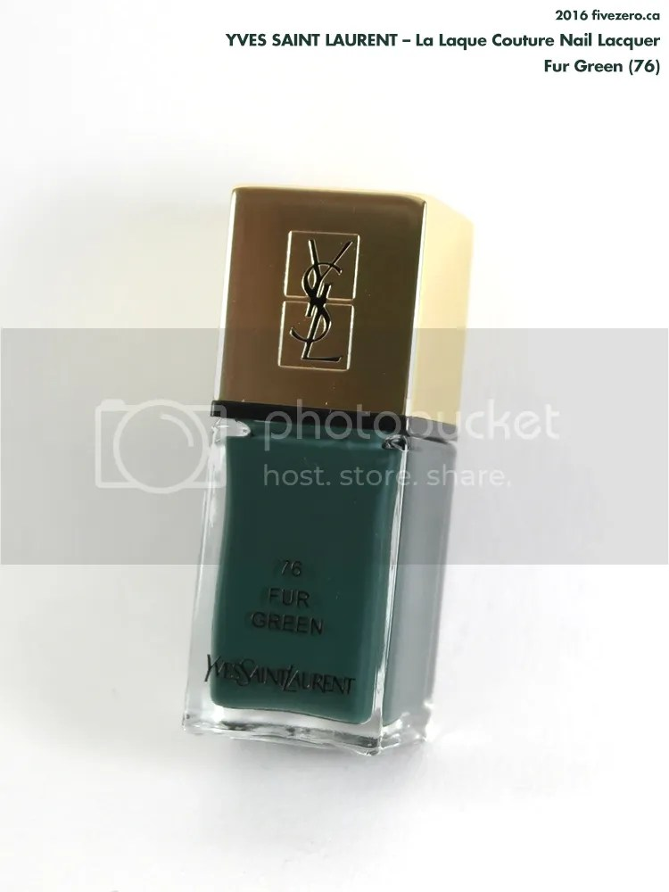 Yves Saint Laurent La Laque Couture Nail Lacquer in Fur Green