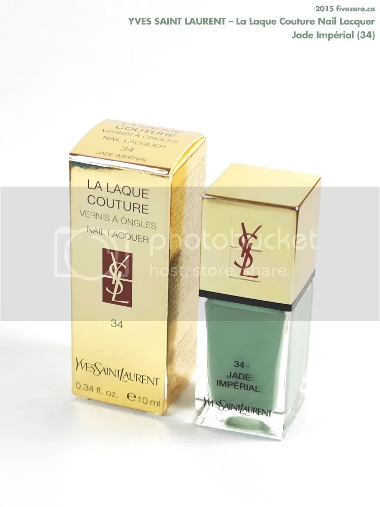 Yves Saint Laurent La Laque Couture Nail Lacquer in Jade Impérial