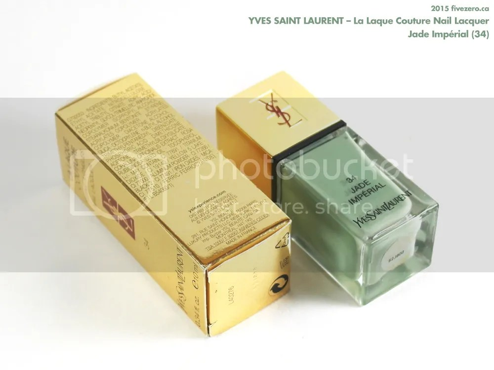 Yves Saint Laurent La Laque Couture Nail Lacquer in Jade Impérial, ingredients
