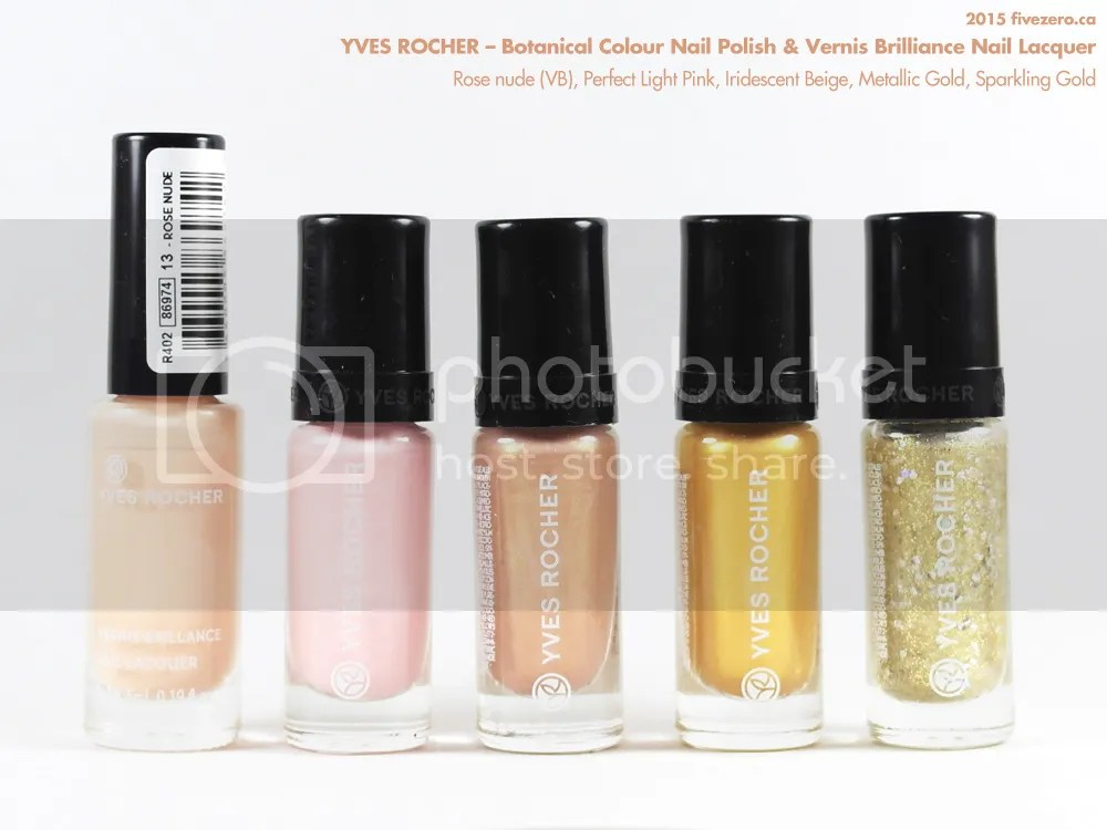 Yves Rocher Botanical Colour Nail Polish & Vernis Brilliance Nail Lacquer