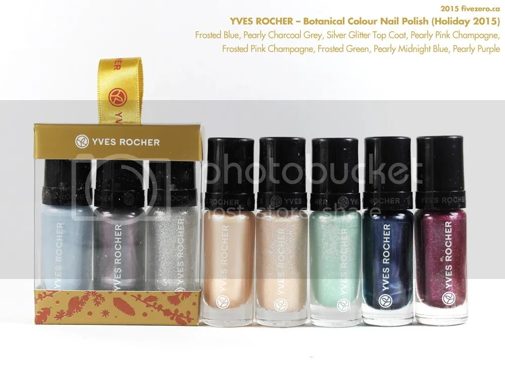 Yves Rocher Holiday 2015 Botanical Color Nail Polish haulage