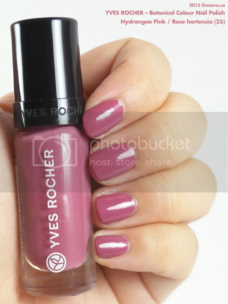 Yves Rocher Botanical Colour Nail Polish in Hydrangea Pink / Rose hortensia, swatch