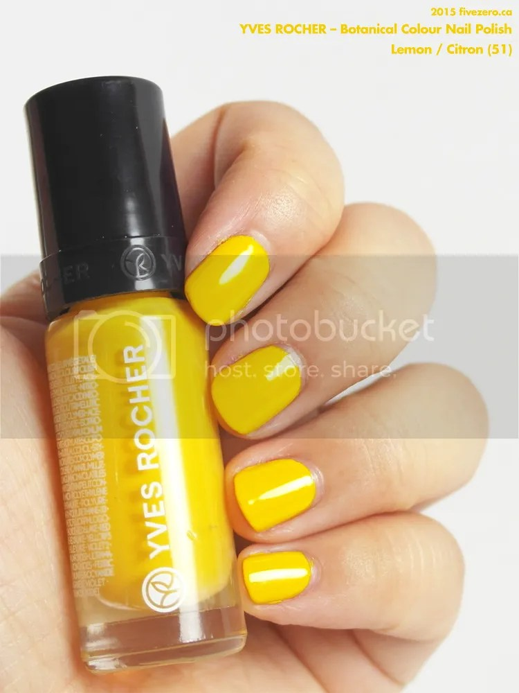 Yves Rocher Botanical Colour Nail Polish in Lemon / Citron, swatch
