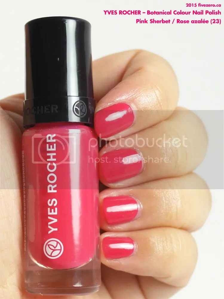 Yves Rocher Botanical Colour Nail Polish in Pink Sherbet / Rose azalée, swatch
