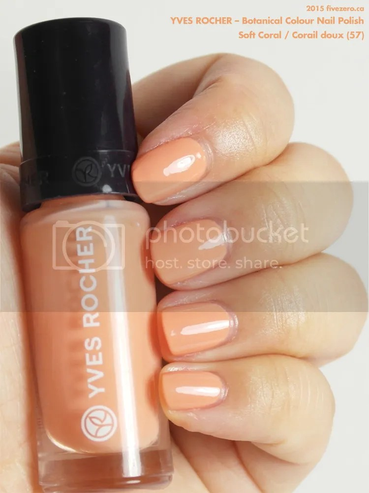 Yves Rocher Botanical Colour Nail Polish in Soft Coral / Corail doux, swatch