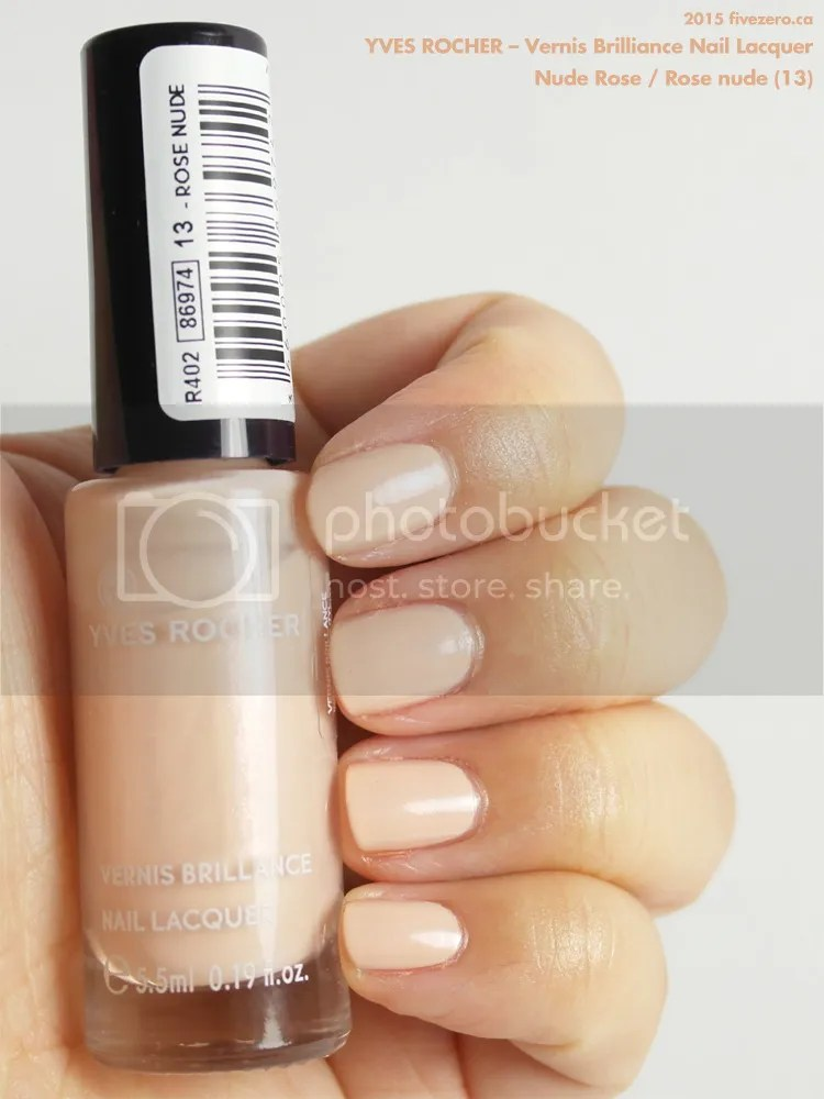 Yves Rocher Vernis Brilliance Nail Lacquer in Nude Rose, swatch