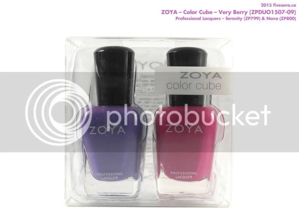 Zoya Color Cube in Very Berry (Serenity & Nana)