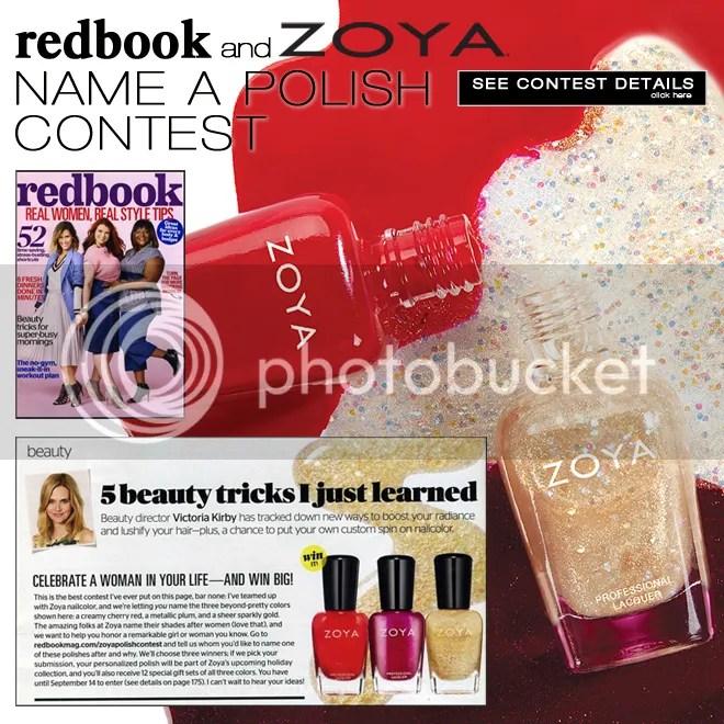 Zoya + Redbook nail polish naming contest, August 2015