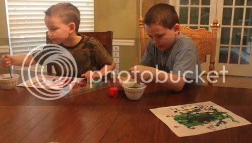 Channeling Their Inner Jackson Pollock