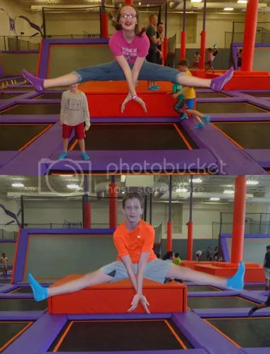 Trampolines Make it Easy to Do Split Kicks
