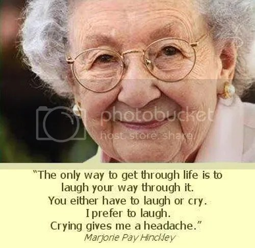 You Can Laugh or You Can Cry... I Choose to Laugh