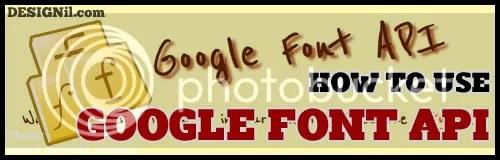 Google Font API