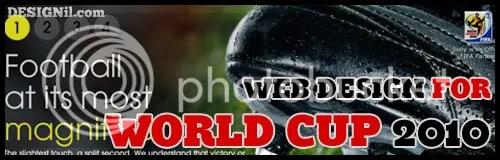 Web Design Inspiration Fifa Worldcup 2010