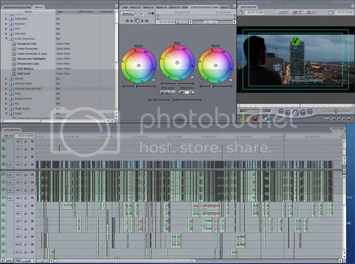 The Distortion timeline in Final Cut Pro.