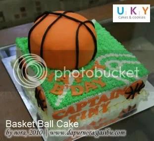 basket ball cake bandung