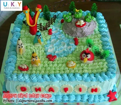 kue ulang tahun angry bird bandung