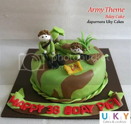 Kue ulang tahun tentara army bandung