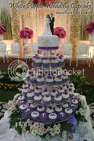 wedding cupcake purple bandung