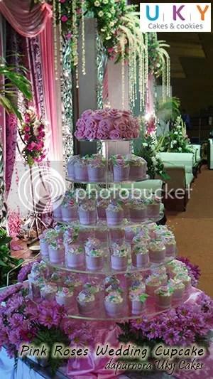 wedding cupcake pink bandung