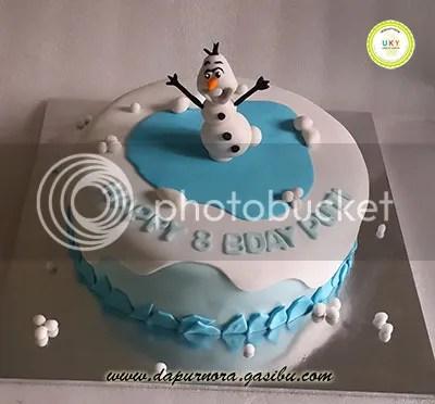 birthday cake olaf frozen bandung