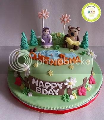 Masha bear Birthday Cake