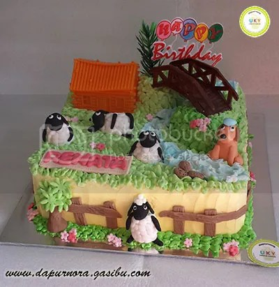birthday cake saun the sheep