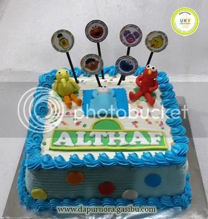 kue ulang tahun sesame street