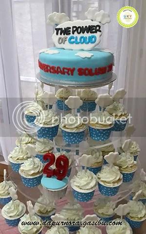 cupcake ulang tahun perusahaan