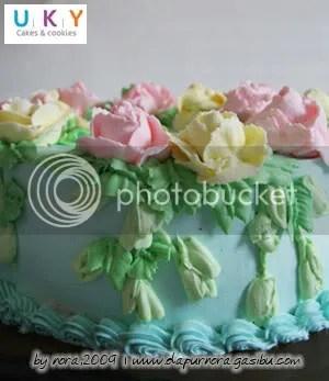 flower birthday cake bandung