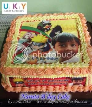 Dapur Nora Naruto B Day Cake For Rafi Dapur Nora