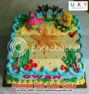 bithday cake spongebob bandung